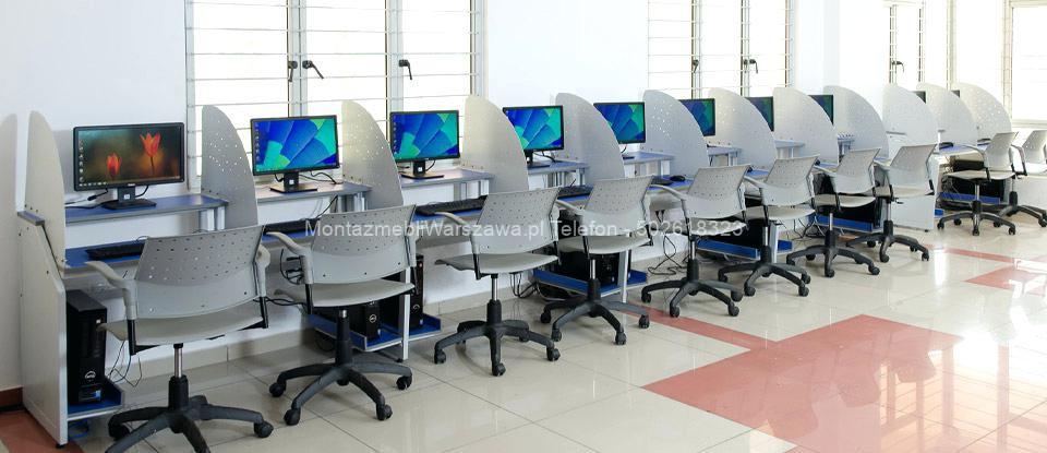 warszawa składanie montaż specjalistycznych mebli dla szkół